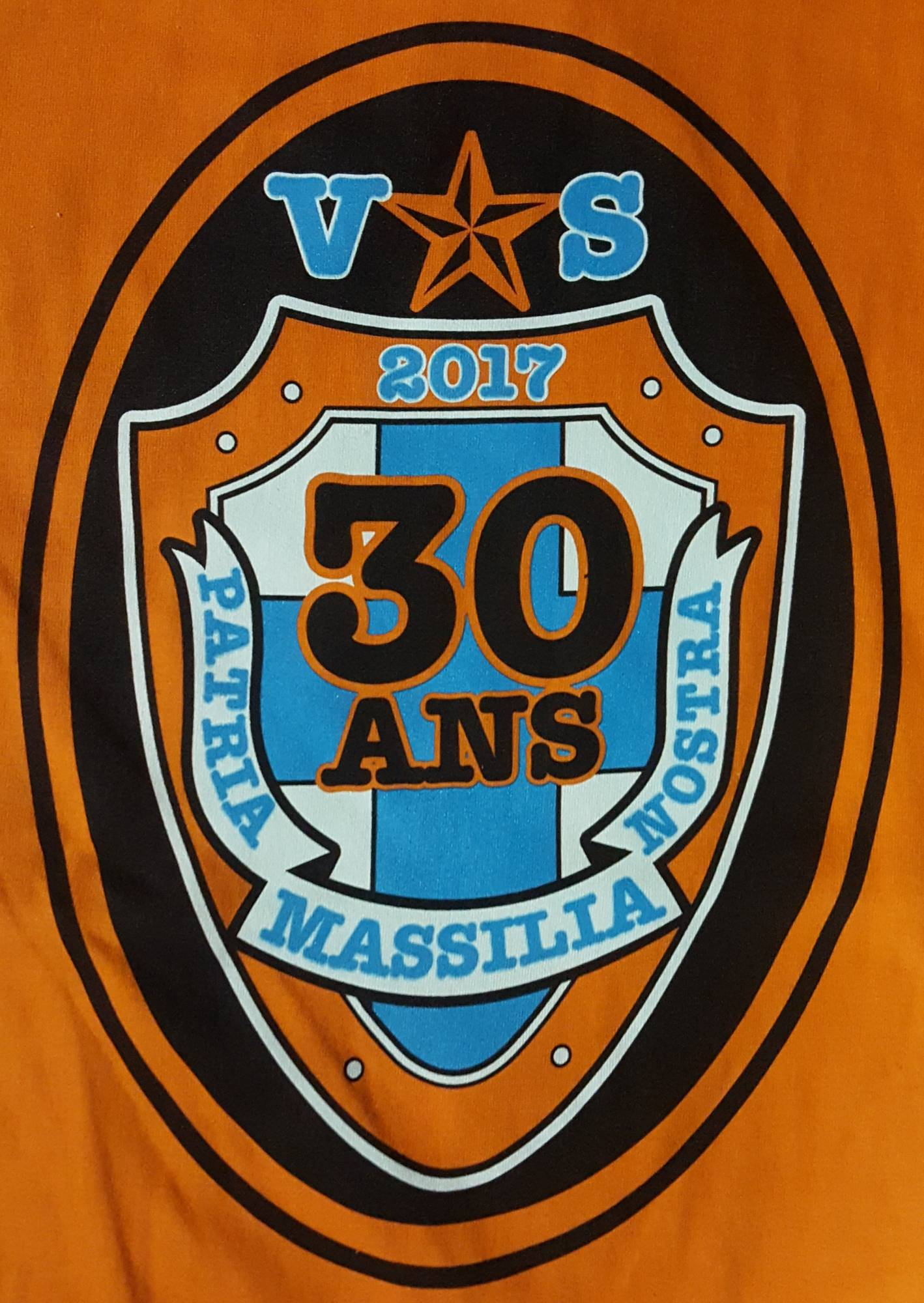 "T-SHIRT COLLECTOR ORANGE 30 ANS SW87 ""SPECIAL  ANNIVERSAIRE SOUTH WINNERS MARSEILLE 1987"""