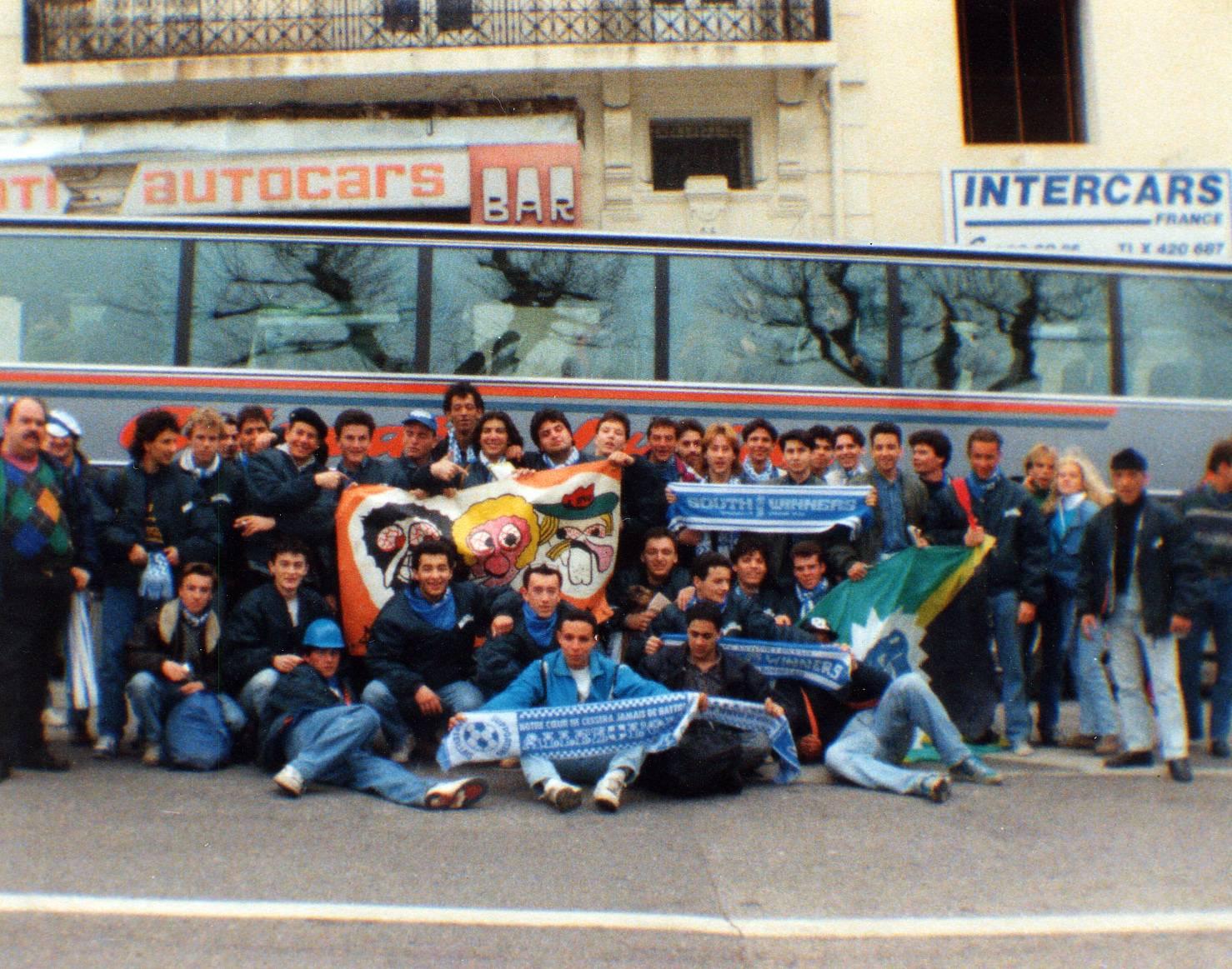 OM - MILAN 1/4 de finale coupe d'europe des clubs champions 1991