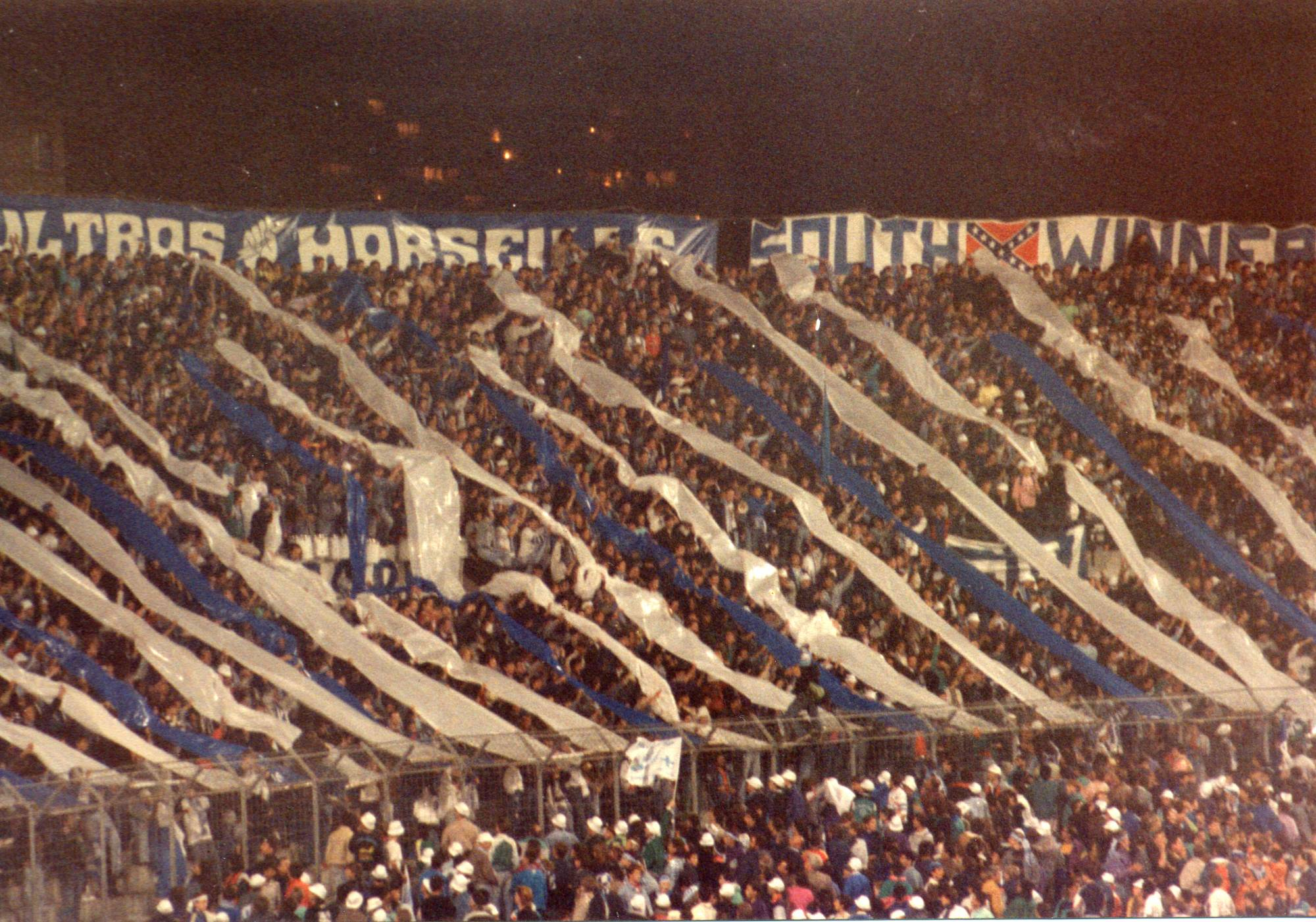 OM - AEK ATHENES 8eme de finale coupe d'europe des clubs champions 1990