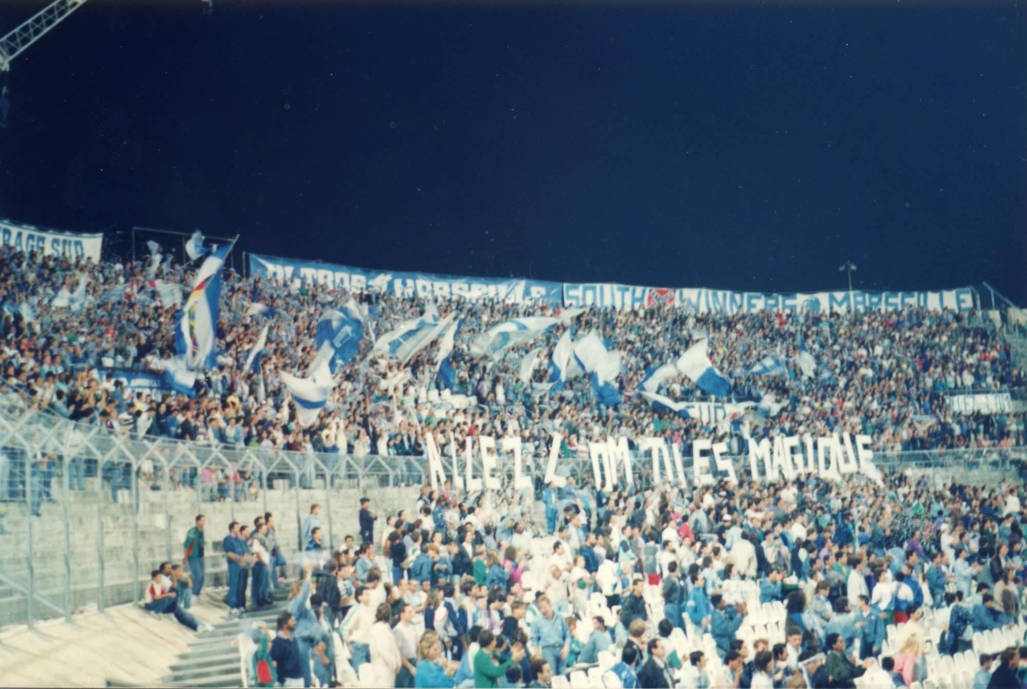 OM - BRONDBY 16eme de finale coupe d'europe des clubs champions 1990
