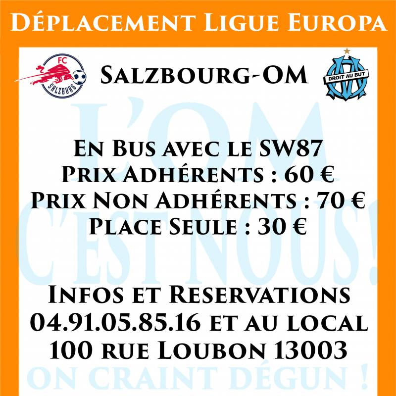DEPLACEMENT SALZBOURG / OM LEAGUE EUROPA 28/09/2017