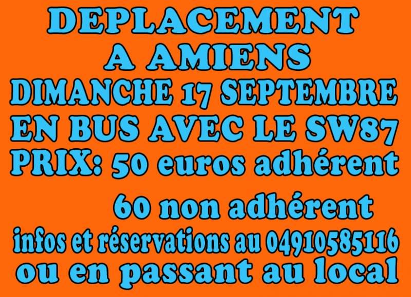 DEPLACEMENT AMIENS / OM DIMANCHE 17 SEPTEMBRE 2017