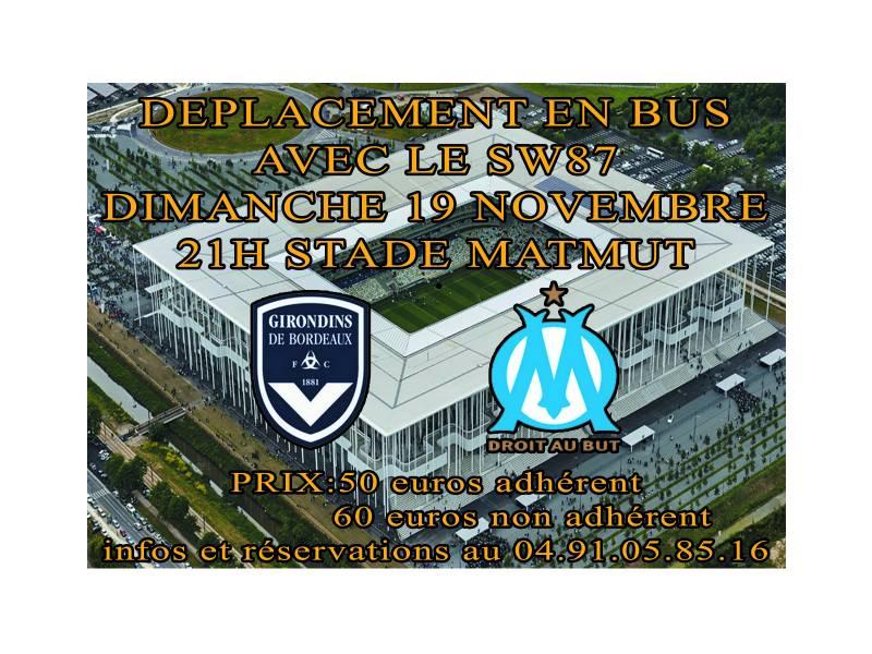 DEPLACEMENT A BORDEAUX LE 19 NOVEMBRE 2017 EN BUS AVEC LE SW87