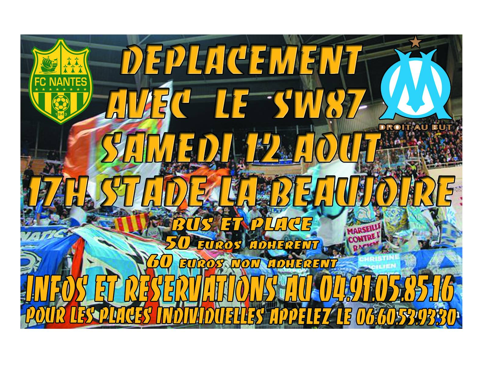 DEPLACEMENT NANTES/OM