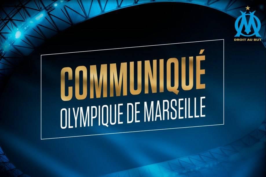 COMMUNIQUE OLYMPIQUE DE MARSEILLE