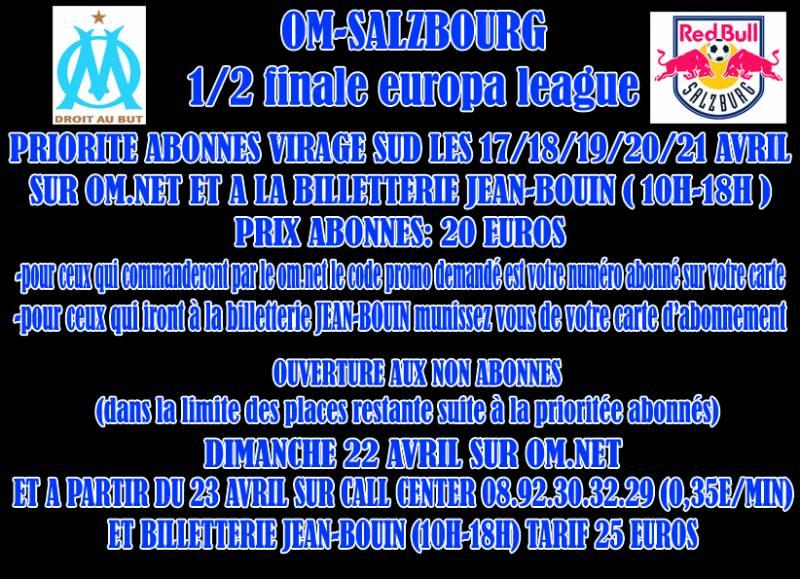 OM - FC SALZBOURG 1/2 FINALE EUROPA LEAGUE 26/04/2018