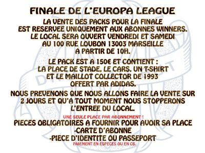infos finale europa league