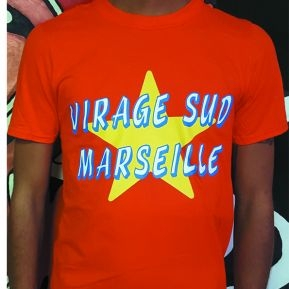 T-SHIRT ORANGE VIRAGE SUD MARSEILLE GREMLINS  2017/2018
